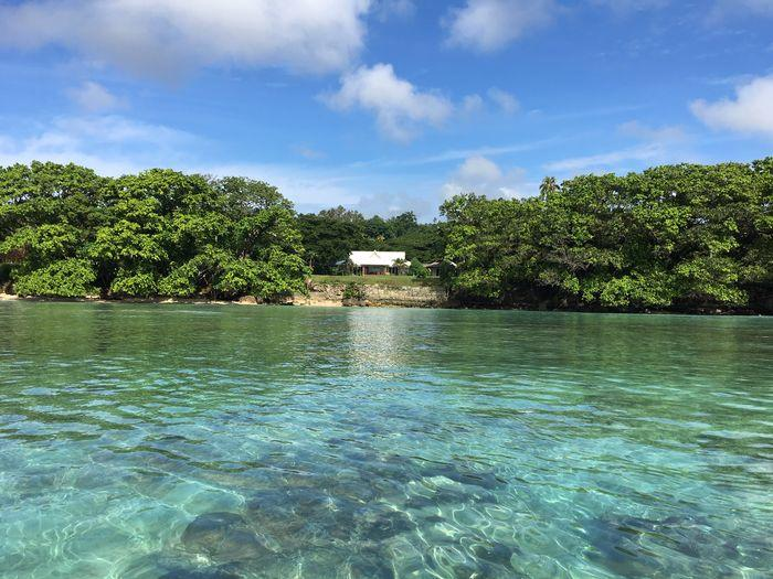 Espiritu Santo's private luxury accommodation, crystal clear waters to enjoy